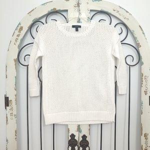 J crew white sweater